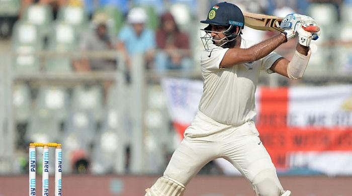 Pujara, Saha put India on top in 3rd Test