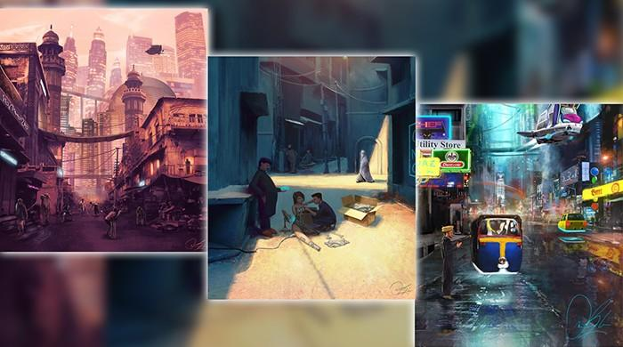 Pakistani concept artist shows nation in a surreal future