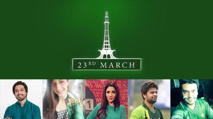 Celebrities, cricketers celebrate Pakistan Day online