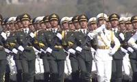 Chinese troops participate in Pakistan Day parade