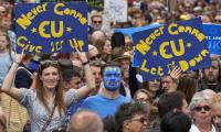 Thousands march in London as Brexit nears