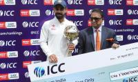 Kohli awarded Test mace as India finish at top, Pakistan at No. 6