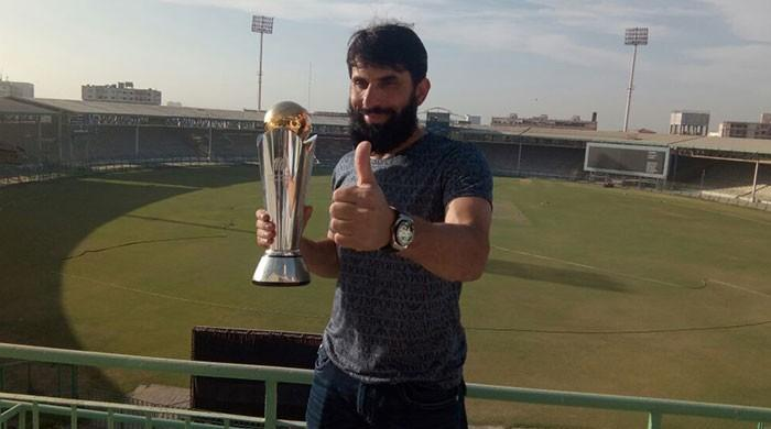 ICC Champions Trophy stops over at Karachi University
