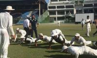 Faisalabad cricketers pay tribute to Misbah by doing pushups after win