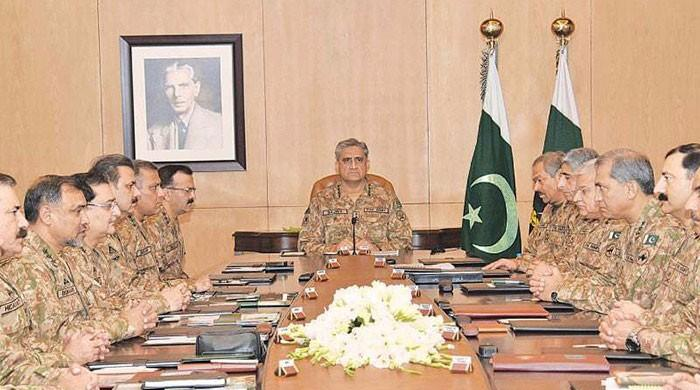 Corps Commanders briefed on Jadhav, conclude no compromise on anti-state activities