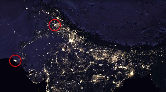 Karachi lahore brightest in pakistan on nasas new nighttime map karachi lahore brightest in pakistan on nasas new nighttime map gumiabroncs Image collections