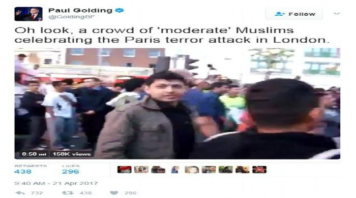 Far-right UK politician posts fake video claiming Pakistani cricket fans were celebrating Paris attack