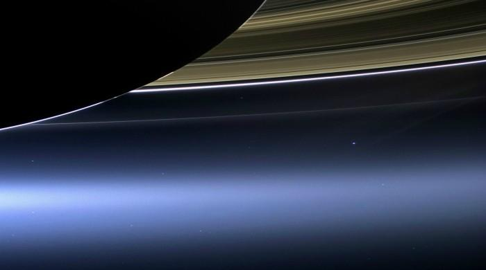 WATCH: NASA reveals stunning image of Earth through Saturn's rings
