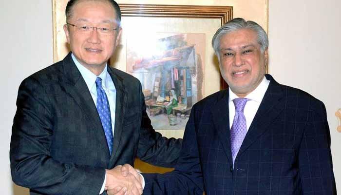 Finance Minister Ishaq Dar meets World Bank President in Washington