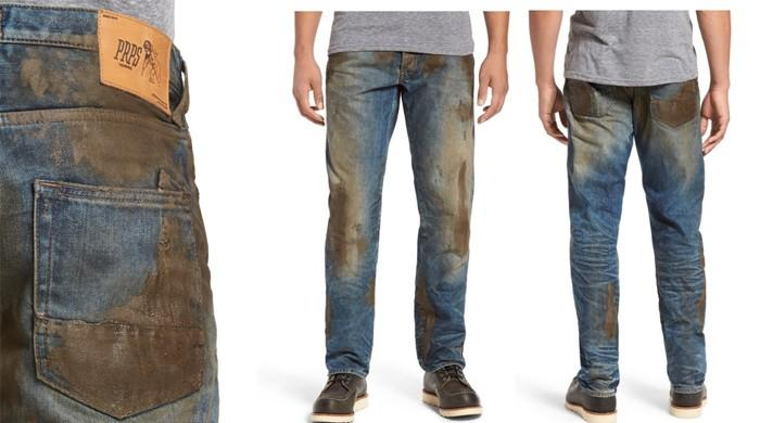 American store's fake mud jeans take lumberjacking a bit too far