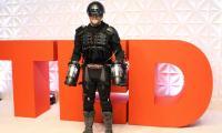 British inventor takes flight in 'Iron Man' suit
