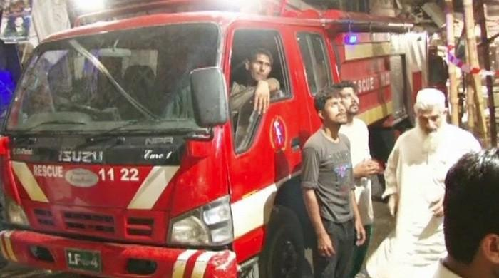 Fire doused at shoe shop, warehouse in Lahore