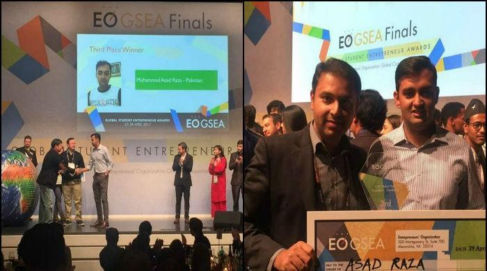 Pakistani student bags third position in global competition