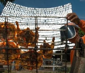 Flame it on the sunshine: Thai solar chicken a hot hit