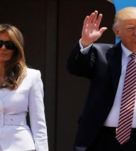 Video of Melania Trump slapping Donald Trump's hand goes viral