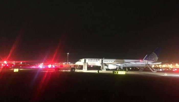 Newark airport closes after plane engine fire, officials say