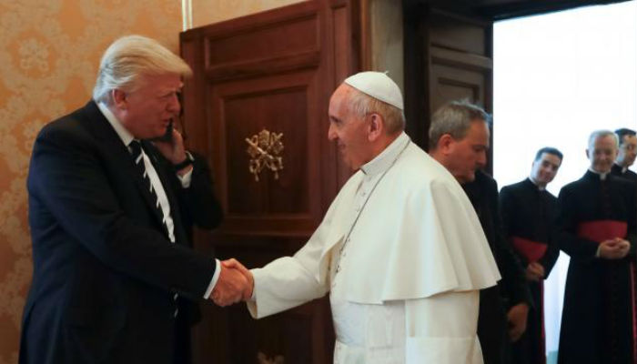 Trump and Pope Francis meet at the Vatican