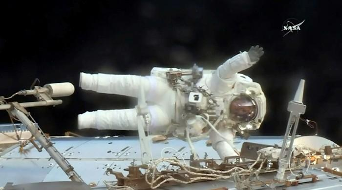 'Victory' for US astronauts on critical spacewalk to replace power box