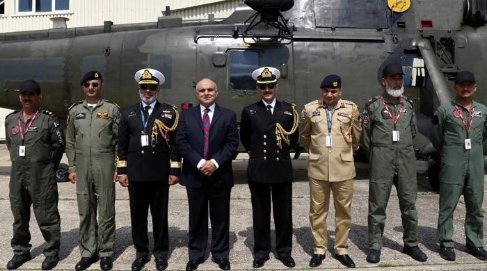 UK handovers Sea King helicopters to Pakistan Navy