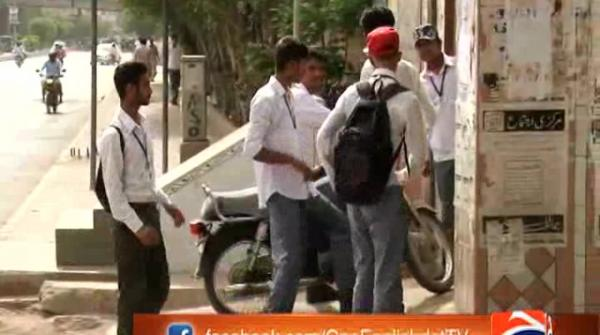 Lecturers boycott board exams, lock centres' gates in Karachi 26-May-2017