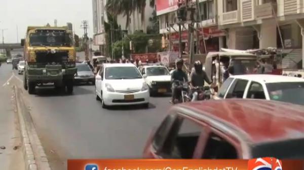 Karachi traffic arrangements for Ramazan