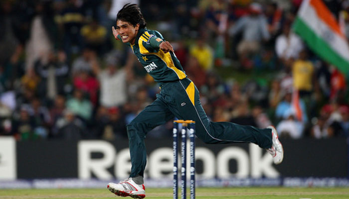 Mohammad Amir Celebrates Taking The Wicket Of Yusuf Pathan India During ICC Champions Trophy 2009 Photo Getty Images