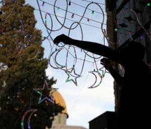 Lights, Qurans as Jerusalem holy site meets Ramazan