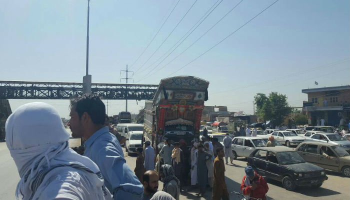 Traffic flow was halted for two hours as result of the protest.