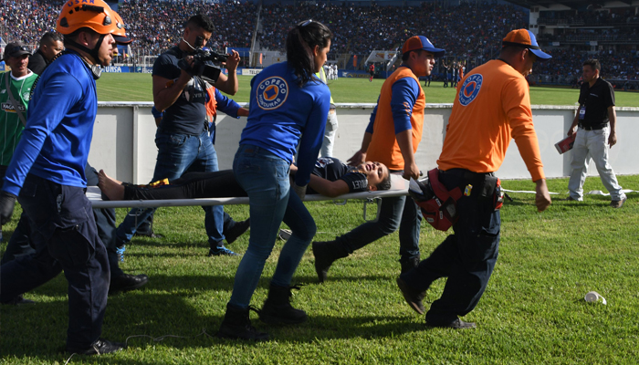 At least four dead in Honduras football stadium stampede