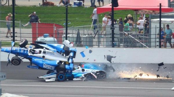 Watch Scott Dixon's terrifying Indy 500 crash
