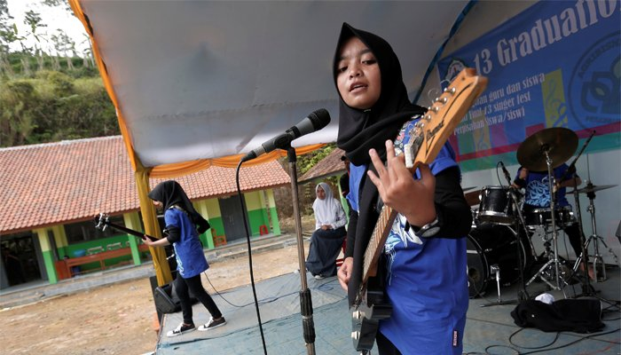 Indonesian all-girl Muslim metal band 'Voice of Baceprot