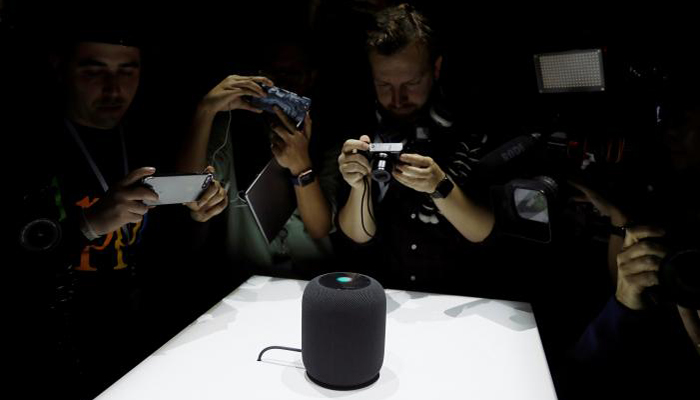 Apple unveils voice-activated, connected home speaker