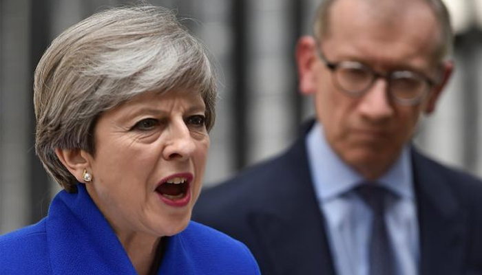 UK's May Uses Downing Street Back Entrance After Election Debacle
