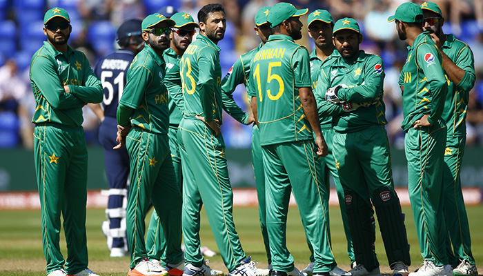 Pakistan players before the match  - Reuters