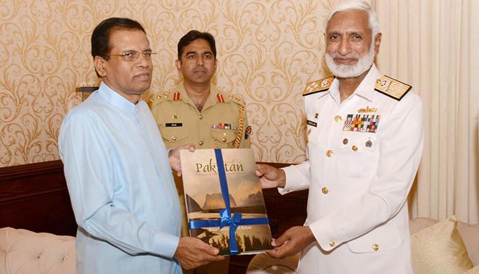 Pakistani Naval Chief Meets President Sirisena