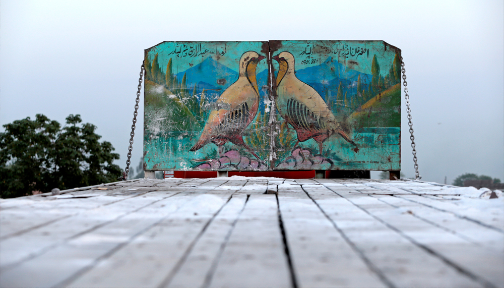 Artwork is seen on a decorated truck in Peshawar, Pakistan, May 1, 2017. REUTERS/Caren Firouz