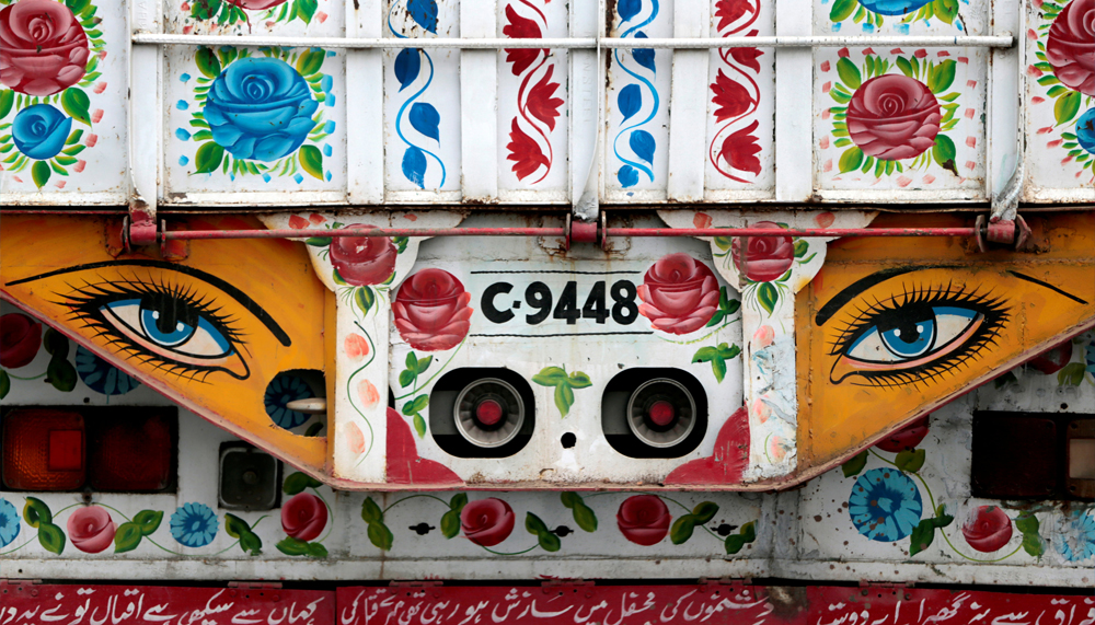 Artwork is seen on a decorated truck in Taxila, Pakistan, May 2, 2017. REUTERS/Caren Firouz