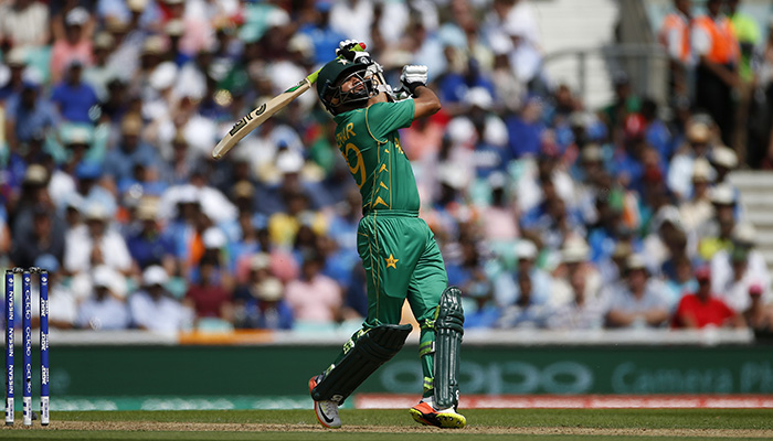 Azhar Ali plays a shot during the final against India - Reuters