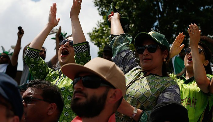 Pakistani cricket fans during the ICC Champions Trophy final cricket match against India, in Islamabad, on June 18, 2017.