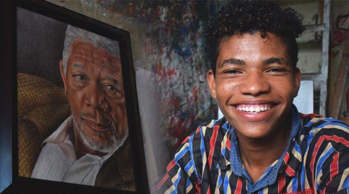 Lyari's budding teenage sketch artist hopes to meet Morgan Freeman