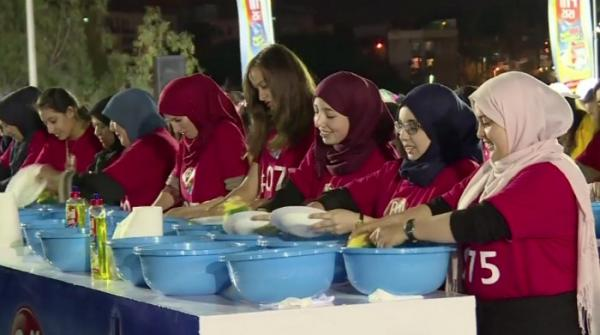 Guinness Record made as 412 women wash dishes after Iftar in Algeria
