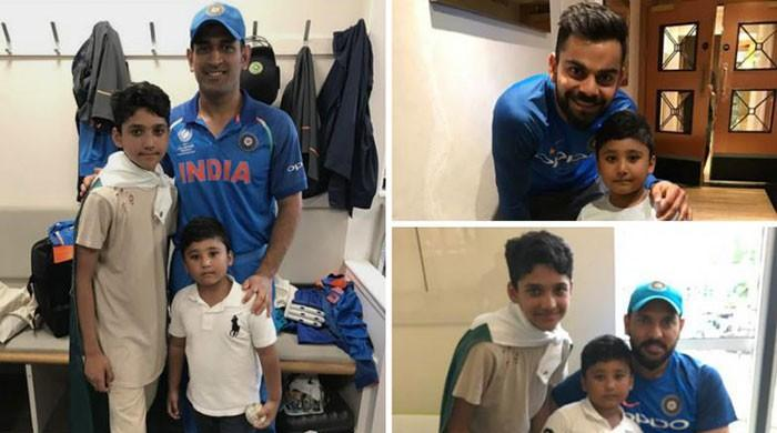 Pictures of Indian cricketers with Azhar Ali's sons go viral