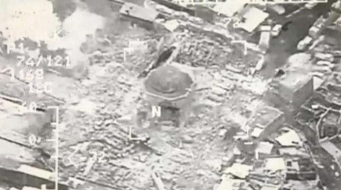 Daesh blows up historic Mosul mosque where it declared 'caliphate'