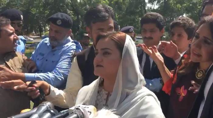 PTI's Uzma Kardar disrupts Marriyum Aurganzeb's press conference