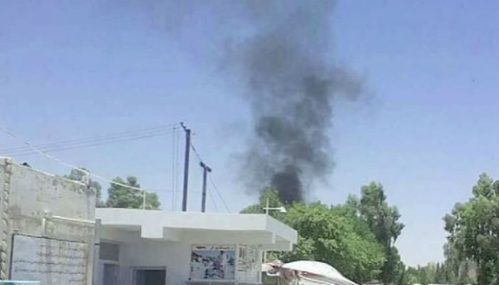About 14 people were injured in the explosion. Photo: Geo News