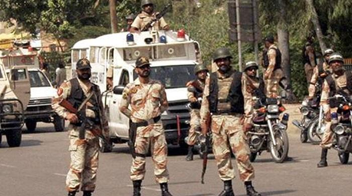 Rangers recover arms cache buried inside Karachi well
