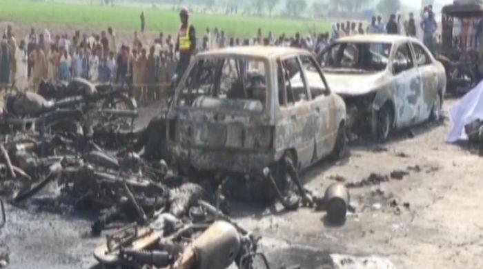 123 burnt to death as oil tanker catches fire in Bahawalpur