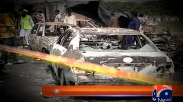 149 burnt to death as oil tanker catches fire in Bahawalpur 25-June-2017