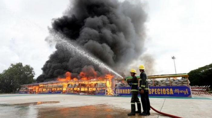 Myanmar, Thailand incinerate illicit drugs worth $800 million