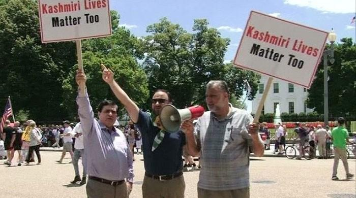 Kashmiris, Sikhs protest Modi visit outside White House